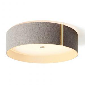 Plafonnier LED Lara felt en feutrine gris/blanc