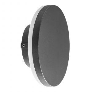 Applique d'extérieur LED Bora ronde, gris foncé