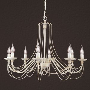 Lustre Antonina 8 lampes, chaîne suspente