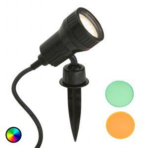 Spot sur piquet LED Terra avec filtre de couleur