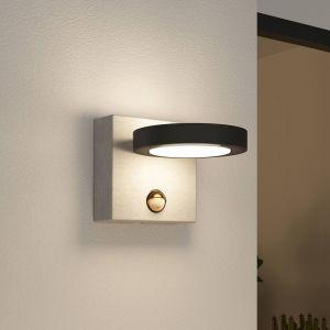 Lucande Belna applique d'ext. LED, béton, capteur