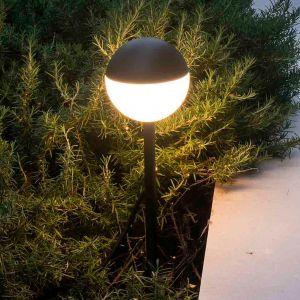 Borne lumineuse LED Piccola avec piquet en noir
