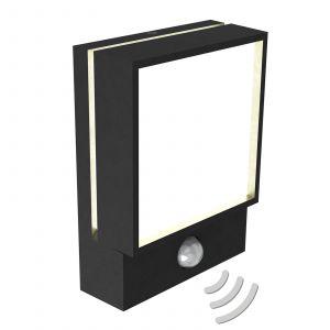 Applique d'extérieur LED Egon détecteur mouvement