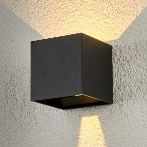 Applique d'extérieur LED en forme de cube Ella