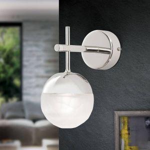 Applique LED Ball à 1 lampe, nickel, vers le bas