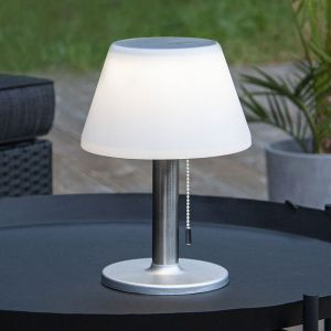 Lampe table solaire LED Solia interrupteur tirette