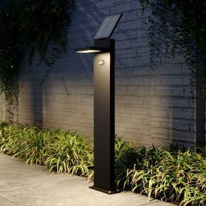 Borne LED solaire Silvan avec détecteur, 100 cm