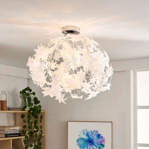 Plafonnier Maple feuilles abat-jour blanc lumière chaleureuse couloir