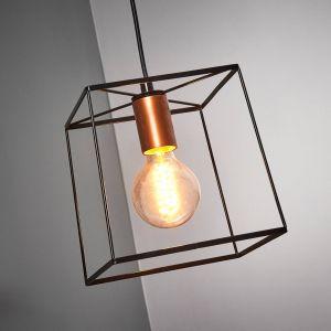 Suspension cage Agatha à une lampe