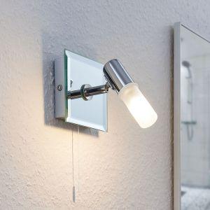 Applique Zela, lampe de salle de bain à tirette