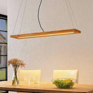 Lindby Nesaja suspension LED en bois