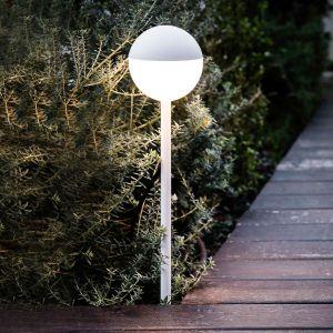 Borne lumineuse LED Piccola avec piquet en blanc