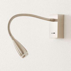 Applique LED Clik avec interrupteur, nickel mat