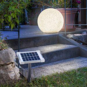 Mega Stone - boule lumineuse solaire LED moderne