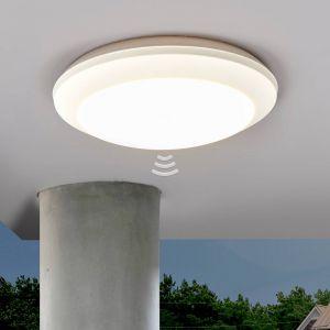 Plafonnier Umerta à détecteur 2xE27, blanc
