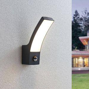 Applique extérieur LED Ilvita, anthracite, capteur