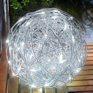 Lampe dÂ'extérieur LED solaire Alu-Wireball