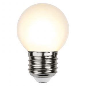 Ampoule LED E27 G45 guirlande, blanche 2700K