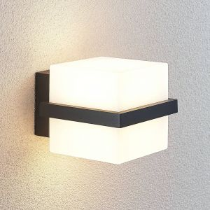 Applique d'extérieur LED Auron, en forme de cube