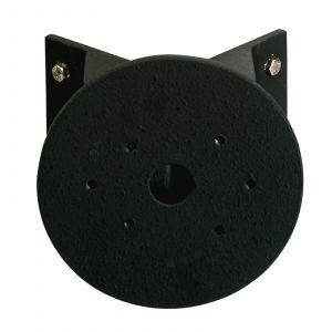 Adaptateur d'angle rond noir pour applique d'ext