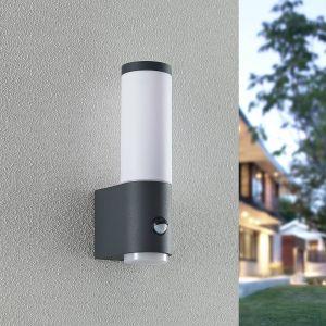 Lindby Okari applique d'extérieur détecteur, 29 cm