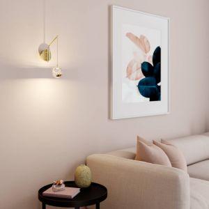 Applique LED Hayley avec sphère suspendue, doré