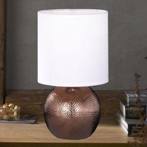 Petite Lampe à poser Foro avec pied couleur cuivre