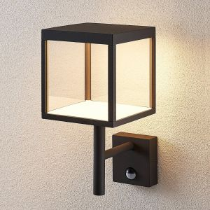 Applique dÂ'extérieur LED Cube, graphite, capteur