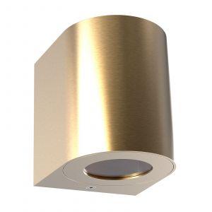 Applique d'extérieur LED Canto 2, 10cm, laiton