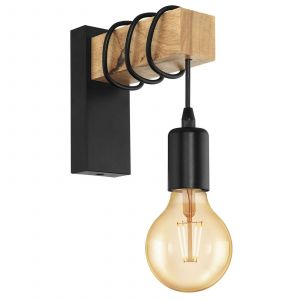 Applique Townshend à élément en bois