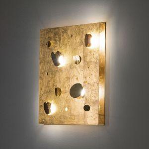 Knikerboker Buchi - applique LED en feuilles d'or
