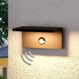 Applique d'extérieur LED carrée Darina, détecteur