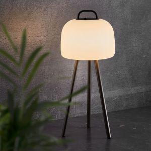 Lampe LED Kettle trépied métal, abat-jour 22cm