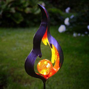 Lampe solaire piquet Melilla Flamme avec LED