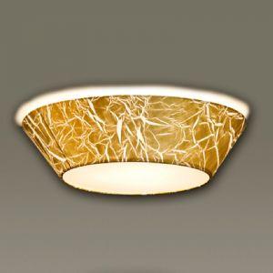 Plafonnier Arius avec feuille d'or 60 cm