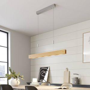 Karinja - suspension LED allongée en bois dimmable