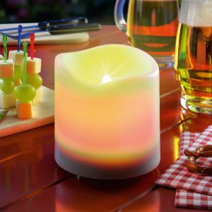 Bougie solaire LED Candle Light, blanc