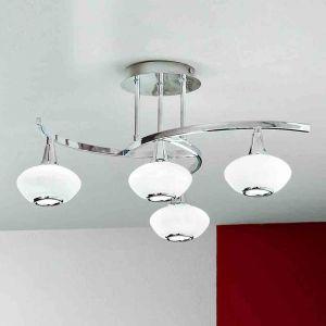 Intéressant plafonnier LURANA à 4 lampes