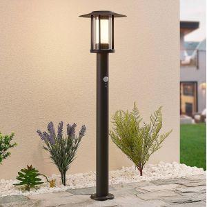Borne lumineuse LED Gregory, gris foncé, capteur