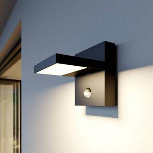 Applique d'extérieur LED Silvan grise, détecteur