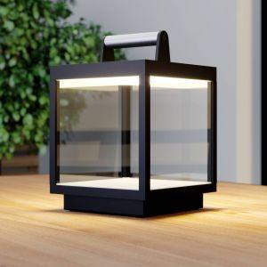 Lampe à poser LED Cube extérieur, rechargeable