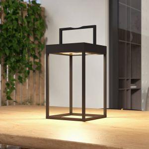 Lucande Lynzy lampe solaire LED, noire, 38,3cm