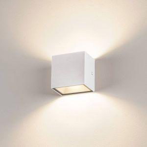 SLV Sitra Cube applique LED d'extérieur, blanche