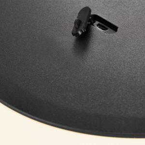 Lampe LED Kettle trépied métal, abat-jour 36cm