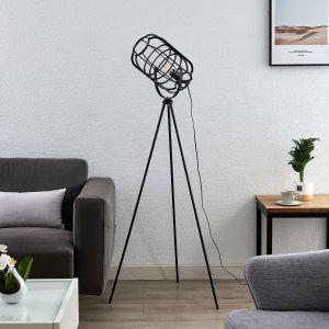 Lindby Keara lampadaire trépied abat-jour cage