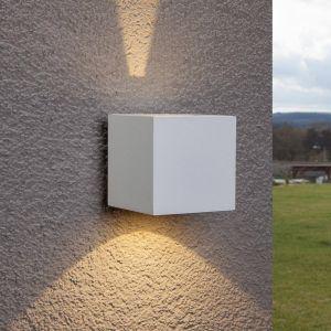 Applique d'extérieur LED Jarno blanche, cube