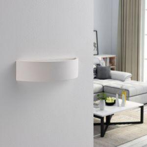 Applique plâtre semi-ronde Aurel, LED Easydim