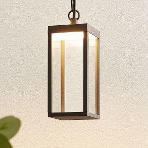 Suspension extérieure LED Cube, verre, 26cm