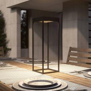 Lucande Lynzy lampe solaire LED, noire, 58,3cm