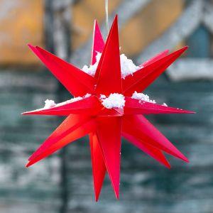Étoile LED, 18 branches, Ø 25cm, rouge